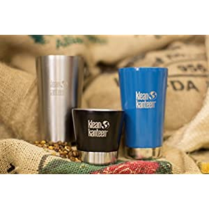 Klean Kanteen Vacuum Insulated Tumbler with Lid, Brushed Stainless, One Size/8 oz