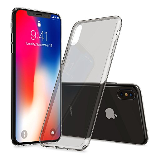ALYEE iPhone X Case 2-Pack with Mini Air Buffer Drop Protection [Support Wireless Charging] for Apple iPhone X (2017) - 2018 Newest Version - Gray Transparent