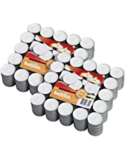 BOLSIUS Tea Lights Candles - Bulk Pack of White Unscented Candle Lights with 3.5 Hour Burning Time - Tea Candles for Wedding, Home, Parties and Special Occasions