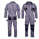 Norman Grey Men's Coveralls Boiler Suit Overalls for Warehouse Mechanics Work Wears (L)