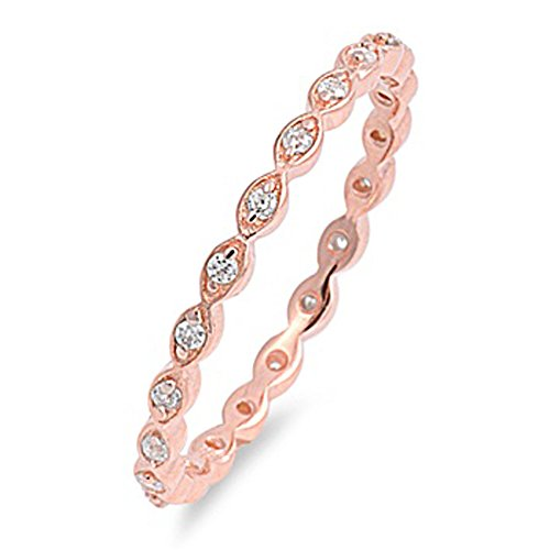 rose gold rings for women - 2