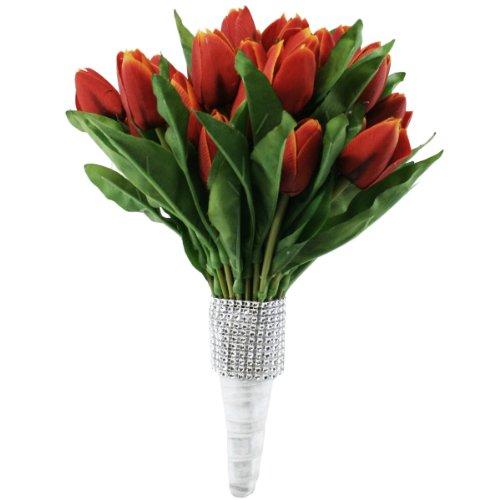 Tulip-Bouquet-54-RedOrange-Silk-Tulips-Bridal-Wedding-Bouquet