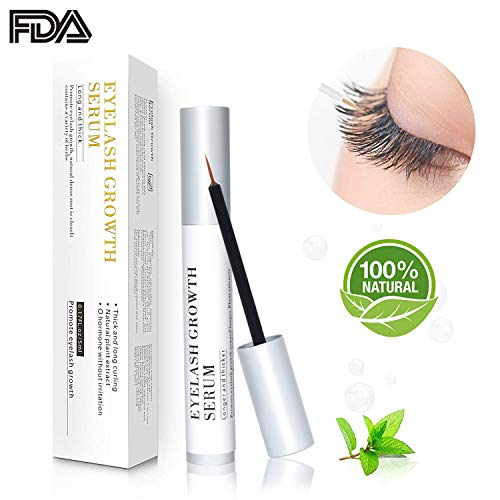 Eyelash Growth Serum & Eyebrow Growth Serum, For Lengthening the Eyelashes and Eyebrows and Gives You Longer Fuller Thicker Looking Eyelashes & Eyebrows (5ML)