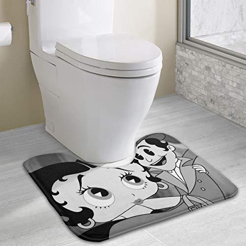 Betty Boop Bath Towel Set - AMRich Betty Boop Bath Rug Contour Toilet Floor Rug Non Slip Bathroom Mat Rugs