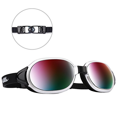 - HeySplash Swimming Goggles, Anti-fog & UV Protection, Coated Lens, Silicone Seal Diving Glasses for Adult Men Women (Black)