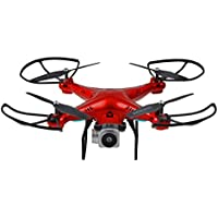 Owill Wide Angle Lens HD Camera Quadcopter RC Drone WiFi FPV Live Helicopter Hover, Flying Time: About 8-10mins (Red)