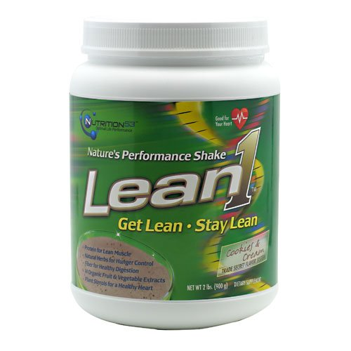Nutrition53 Lean1 Nature's Performance Shake – Cookies and Cream – 2 lbs For Sale