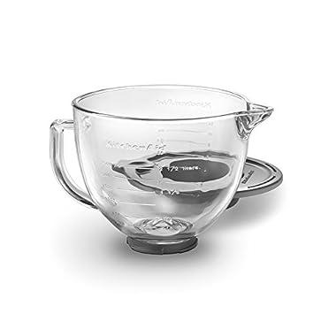 KitchenAid K5GB 5-Qt. Tilt-Head Glass Bowl with Measurement Markings & Lid