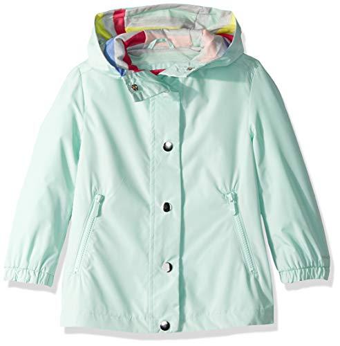 (London Fog Girls' Toddler Lightweight Jersey Lined Windbreaker Jacket, Silver Surf Mint, 3T)