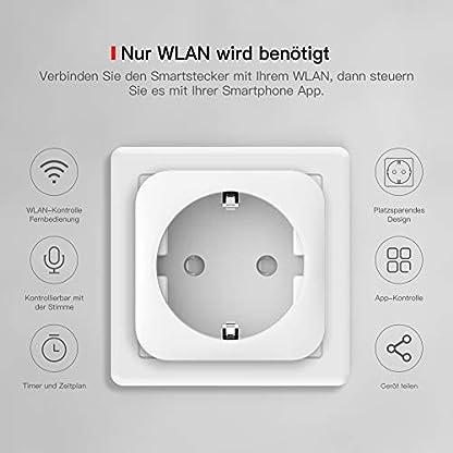 TECKIN Smart Wlan Steckdose 16A Wifi Intelligente Mini Steckdose, funktioniert mit Android und iOS Siri und Google Home, Alexa, Google Nest Hub, auf NUR 2.4 GHz Netzwerk (4 PACK) 2