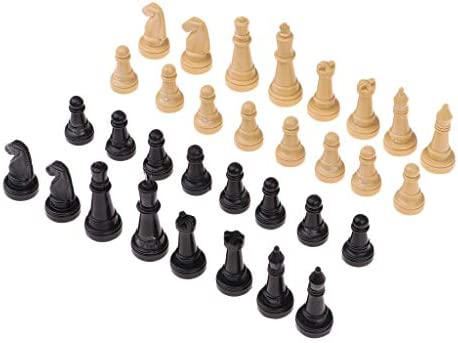 [해외]32pcsSet 4.8cm Plastic Chess Pieces Only for Kid Board Games (WoodenBlack) / 32pcsSet 4.8cm Plastic Chess Pieces Only for Kid Board Games (WoodenBlack)