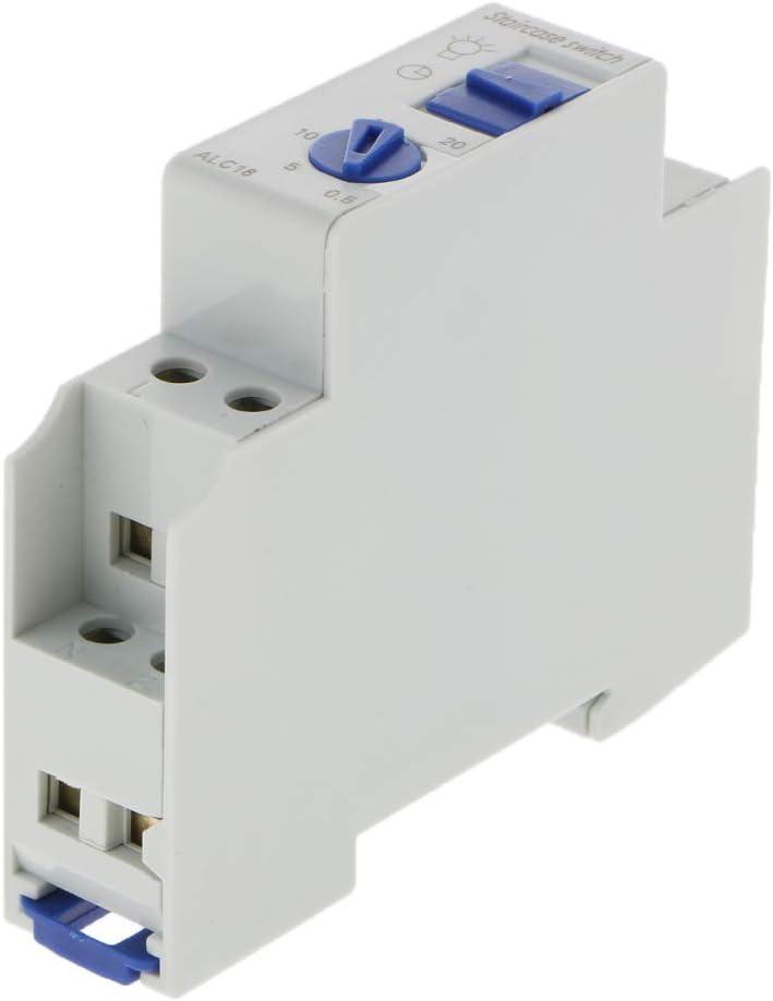 Piezas de Interruptor de Relé de Tiempo Temporizador Escaleras 220-240V 16A Accesorios de Respuesto: Amazon.es: Bricolaje y herramientas