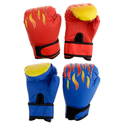 SM SunniMix 2 Pairs PU Leather Boxing Gloves Age 6-12 Years Boys Girls Punching Gloves for Punch Bag Training