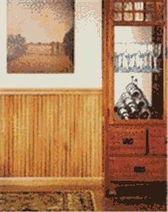 House of Fara W2750 Red Oak Wainscot Chair Rail