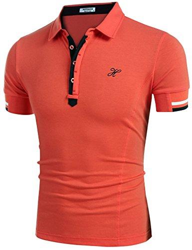HOTOUCH Herren Poloshirt Polohemd Slim Fit Hemd Polo Shirt Kurzarm
