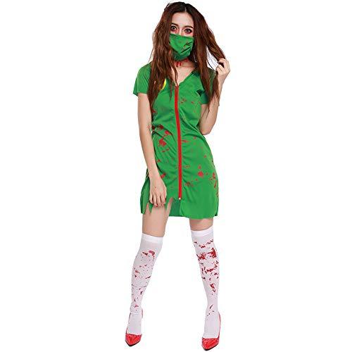 Amazon.com: MV Halloween - Traje de enfermera para mujer ...