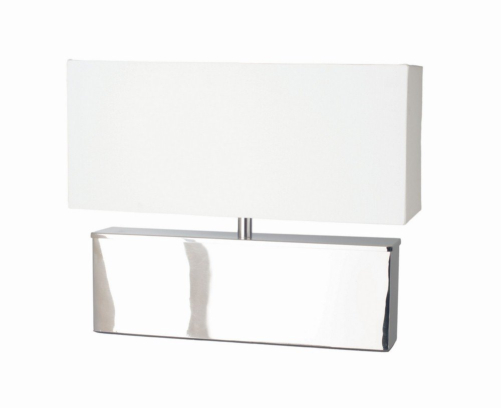 Renwil Inc LPT555 Cube - One Light Medium Table Lamp, Chrome Finish with Off White Shade