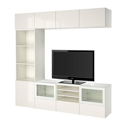 Amazon com: Ikea BESTÅ TV storage combination/glass doors