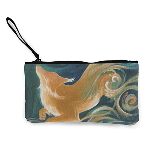 Makeup Nice Fox Coin Pouch 4 Zipper Pencil Travel Canvas Handle Pen 7