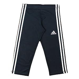Adidas Youth Big Girls Global Capri Leggings (Large (14), Black/White)