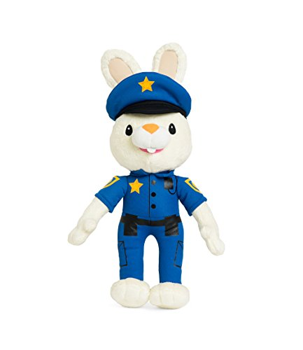 BUNNY OF THE YEAR - Baby First TV - Policeman Harry the Bunny Soft Plush Toy Baby Shower Gifts Toys Deals Big Plush Toys - Baby Gift - New Baby Gift - Plush Animals - Baby Toys PERFECT BIRTHDAY (Baby First Tv Characters)