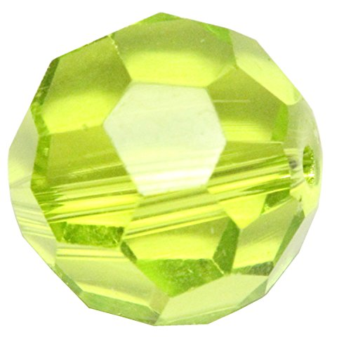 50 10mm Adabele Austrian Round Crystal Beads Light Olivine Alternative For Swarovski Preciosa Crystalized Beads 5000 #SS2R-1017 Olivine Crystal Necklace