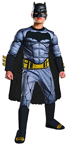 Rubie's Costume: Dawn of Justice Deluxe Muscle Chest Batman Costume, Large (Male Costume Halloween)