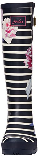 Joules Womens Welly Print Rain Boot Navy Bloom Stripe 9QG3OqW