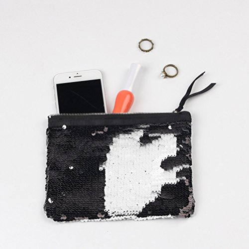 Purse Sparkly Fashion Clutch Lady Bag Black Bag Party Wallet Women Pink Evening Clutch Handbag for Sequin vrqBTrwxd