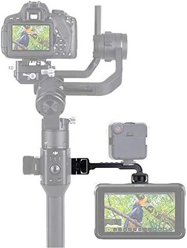 Sutefoto DH11 Verlängerungsplatte mit 1/4 Monitor Montieren Adapter Halterung Kompatibel für DJI Ronin S/Ronin SC, Support Light Magic Arm Multifunktionales kardanisches Zubehör