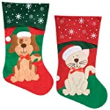 Pets Christmas Stocking Dog or Cat Your Choice (Dog), My Pet Supplies