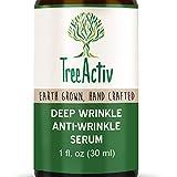 TreeActiv Deep Wrinkle Anti-Wrinkle Serum | Reduce Under Eye Wrinkles, Crow's Feet & Laugh Lines | Increase Collagen, Elasticity, Firmness | Hyaluronic Acid, Dragon's Blood, Ginkgo Biloba | 1 fl oz