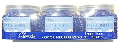 Punati CleanAir Odor Neutralizing Gel Beads, 12 oz (Pack of 3) (Blue - Fresh Linen)