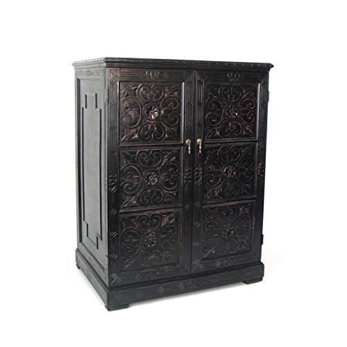 Wayborn Home Furnishing Entertainment Center, Black