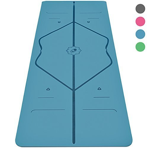 Liforme Yoga Mat - The World's Best Eco-Friendly, Non Slip Yoga Mat with The Original Unique Alignment Marker System. Biodegradable Mat Made with Natural Rubber & A Warrior-Like Grip (Blue)
