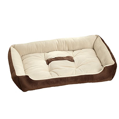 S-Lifeeling Pet Bed Comfort Soft Cat or Dog Bed, Machine Washable, Bolstered Microfiber, Modern Designer Inspired Pattern (Argos Patio Furniture)