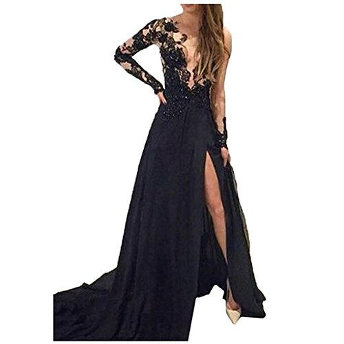 Buy black sheer bridesmaid dresses - 3