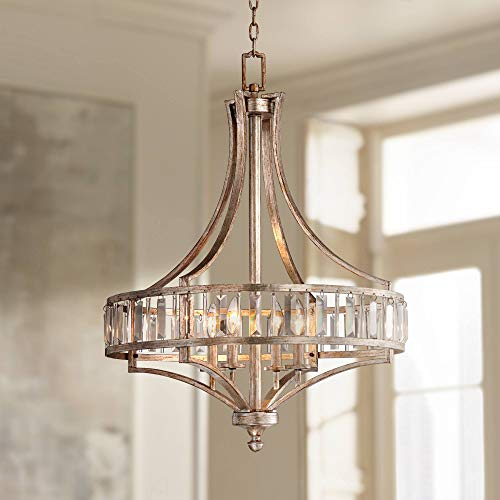 Chandelier Contemporary Spectrum - Soft Silver 4-Light 24