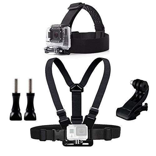 Action Pro Chest Head Belt Mount for Gopro Hero 2018 7 6 5 4 Accessories Set SJCAM SJ4000 Camera  Black
