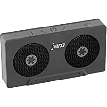 JAM Rewind Wireless Bluetooth Speaker, Portable, Dynamic Sound, Rechargeable Battery, Retro Design, Built-in Speakerphone, Works with iPhone, Android, Tablets, Cassette Design, HX-P540GY Grey