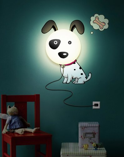 Melange Wall Decals Dog Removable Wall Decal with Night Light Ruby Compass 700621543787