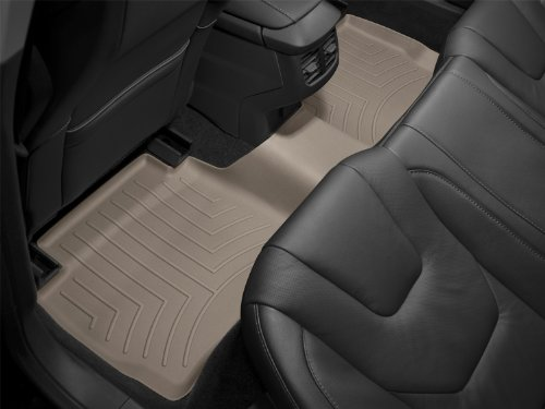 WeatherTech Custom Fit Rear FloorLiner for Chevrolet Silverado Crew Cab 2500HD/3500HD, Tan