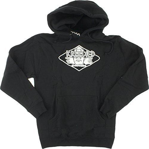 Krooked Arketype Black Large Hooded Sweatshirt