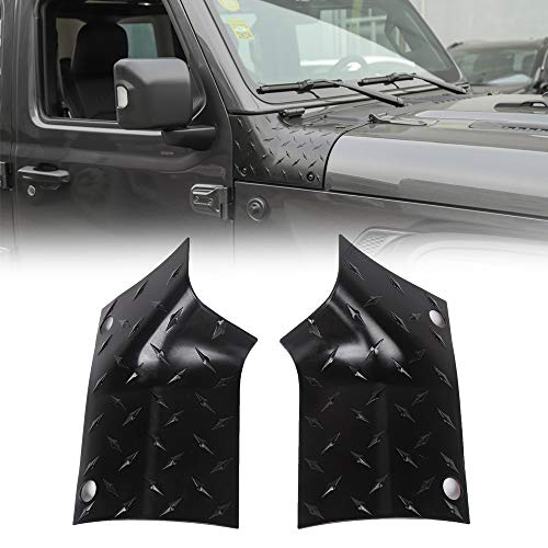 JeCar Cowl Body Armor Outer Corner Guards Exterior Accessories for 2018-2020 Jeep Wrangler JL JLU Sport Sahara Rubicon & 2020 Jeep Gladiator JT, Black