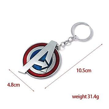 VAWAA Fashion Avengers Llavero Carta A Capitán América ...