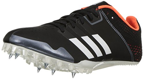 adidas Adizero Finesse Running Shoe, Core Black,White, Orange, 11 M US
