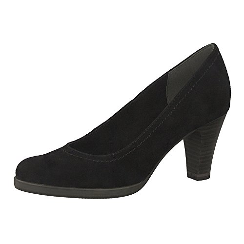Tamaris 1-1-22471-20 Pumps Da Donna, Scarpe Estive Per La Donna Attenta Alla Moda In Camoscio Nero