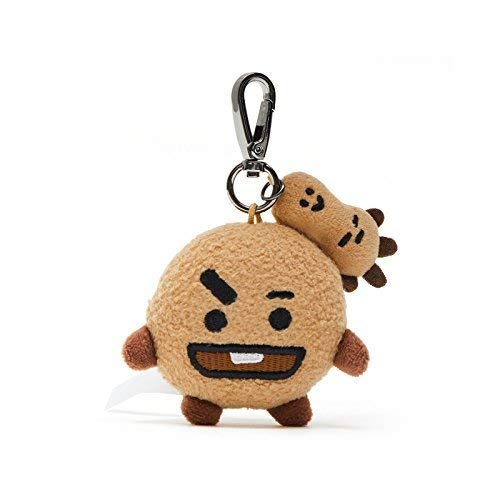 BT21 Official Merchandise by Line Friends - SHOOKY Character Doll Keychain Ring Cute Handbag Accessories]()