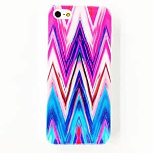 JJEPunk Colorful Strip Hill Pattern Polycarbonate Hard Case for iPhone 5/5S , Multicolor