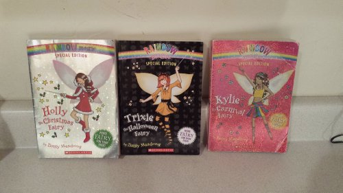 Rainbow Magic Special Edition Set of 3 Books-Holly the Christmas Fairy, Trixie the Halloween Fairy, and Kylie the Carnival Fairy -